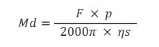 Laskukaava ruuvikäytön momentin laskemiseen