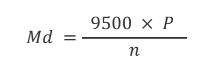 Laskukaava vääntömomentin laskemiseen